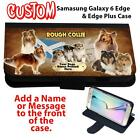 Personalised ROUGH COLLIE Samsung Galaxy S ALL MODEL Flip Phone Case Gift