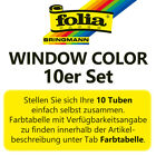 folia Window Color 80 ml SET AUSWAHL Fenstermalfarbe Glasmalfarbe Fensterfarbe