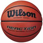 Wilson Reaction Ball Size 5,6,7 Brown Basketball Composite Leather Training NEW