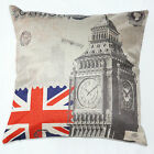 Brand New Linen London Union Jack Cushion Cover Pillow Case Home Sofa Decor