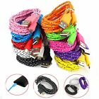 1M 3ft Braided Fabric Micro USB Data&Sync Charger Cable Cord For Samsung