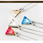 Silver Crystal Necklace With Swarovski Elements Christmas Gift For Her | Boxed