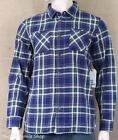 VANS Off The Wall Birch Flannel Shirt Mens Blue Green Plaid Classic Fit New NWT