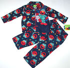 Nwt New Sesame Street Coat Elmo Pajamas Sleepwear Flannel Navy Cute Nice Boy