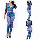 Women's Sexy Tops and Long Pants Two-piece Set Bandage Clubwear Jumpsuits