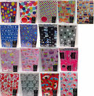 2 sheets of gift wrap 50 x 70cm with 2 tags birthday general