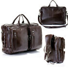Men's Real leather travel bag tote duffle luggage bag backpack messenger Laptop