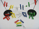 Mini Pegs Plastic Single Coloured Clips for Paper, Card, Picture & Photo Hanging