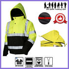 Hi-Vis Insulated Safety Bomber Reflective Jacket Road Work HIGH VISIBILITY JO