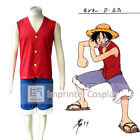 One Piece Monkey D. Luffy Red Cosplay Costume Full Set