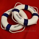 Blue Lifebuoy Float Ring Preserver Nautical Theme Home Office Welcome Decor Item