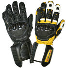 Rayven RX-1 Cowhide Leather Motorcycle Motorbike Racing Textile Gloves