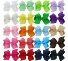 "3.5"" 7.5cm Big Grosgrain Ribbon Flower Girl HAIR Clips BOW Pin Aligator Clip"