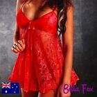 Sexy Babydoll Sexy Lingerie Plus Sz 8-18 Chemise Lace Nightwear Hot Red