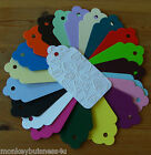 Tag Die Cuts - Large Embossed Scallop Tag - Butterflies - Wedding/Gifts/Cards