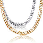 """C19 18-30""""for MEN Heavy Stainless Steel 8mm Miami Cuban Curb Chain Necklace Link"""