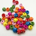 Wholesale 20/50/100pcs Wooden Round Spacer Loose Beads For Bracelet Necklace Hot