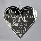 Personalised First Valentines gifts together Mr & Mrs Couple for him her heart