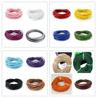 5 Meters 2mm Mixed Color Round Genuine Leather Cord for Necklace J16010805
