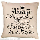 Always & forever ornate cushion | Can add text Gift | Valentine | Wedding | Love