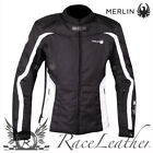 MERLIN EVIE BLACK WHITE LADIES WOMENS WATERPROOF MOTORCYCLE MOTORBIKE JACKET