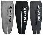 Brand New Ladies Fleece Jogging Bottoms With Pockets Addicted Print S-XL(12-22)