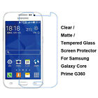 Tempered Glass/Clear/Matte Screen Protector For Samsung Galaxy Core Prime G360