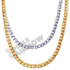 "C10 18-36""Men stainless steel 6/8mm Diamond Cut Cuban Necklace Chain Link"