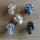 5 Novelty Buttons - Skull - 15mm x 10mm - Metal Shank Buttons - Knitting/Sewing