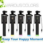 Foldable Movable Phone Holder Mini Monopod Selfie Stick Wired For iPhone Android