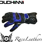SALE CHEAP DUCHINI TRAX BLACK BLUE MOTORCYCLE MOTORBIKE LEATHER SUMMER GLOVES
