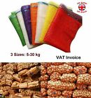 Net Woven Sacks Vegetables Logs Kindling Wood Log Mesh Bags 3 Sizes 5-30kg