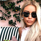 Dark Lens Vintage Retro Men Women Sunglasses  Metal and Plastic Half Frame