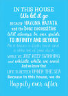 In this House we do, disney inspired quotes poster art print