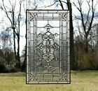 "20.5"" x 34.25"" Stunning Tiffany Style stained glass Clear Beveled window panel"