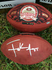 FRANK GORE LAST GAME AT CANDLESTICK WILSON  GAME BALL - TRISTAR AUTHENTICATED