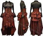 Gothic Victorian Steampunk Raunched Long Skirt Wedding