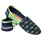Seattle Seahawks 2016 Womens Canvas Stripe Shoes