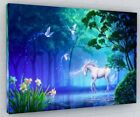 FANTASY UNICORN HORSE WALL ART CANVAS PICTURE LARGE  - Various Sizes #006