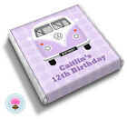 Personalised CAMPERVAN Girl's 10th 11th 12th Birthday Party Favour Chocolates