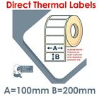 100mm x 200mm White Labels for Zebra, Citizen, Toshiba etc