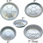 Foil flan dishes aluminium round trays, quiche pies baking cheescake flans cases