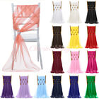 "1/5/10/20 PCS 21""x70"" Chiffon Chair Sash Bow Cover for Wedding Party Decoration"