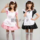 Akihabar uniform Cosplay party lolita Costume Sexy Dress Ruffle Maid Outfit 6-10