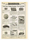 1933 AD TRICK SOAP, WOBBLY NOVELTIES, TRICK GOLF BALLS, TRICK MATCH BOX.