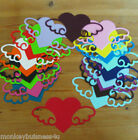 6 - Love Die Cuts - Large Heart w/Wings - Valentine/Wedding/Invitations/Cards