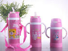 Child Baby Kids School Water Drinking Straw Bottle Thermos Insulated Kettle Gift