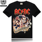 AC/DC Highway Hell Rock Band Cotton Fashion 3D T-Shirt tops tee Black Asian size