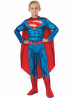 Child Superhero Boys Deluxe Superman  Comic Book Week Fancy Dress Kids Costume