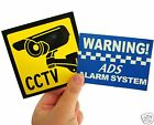 warning sticker sign signs stickers 4 alarm system CCTV security home commercial